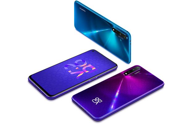Huawei smartphone met vier camera's achteraan