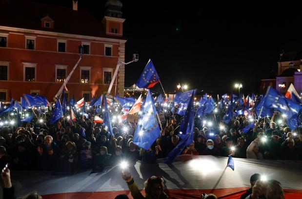 Duizenden Polen op straat tegen regering en pro Europa
