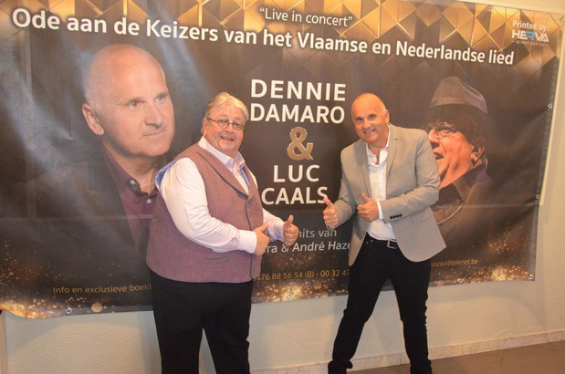 Luc Caals & Dennie Damaro zingen hits van André Hazes & Will Tura in Blankenberge