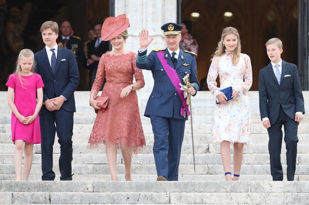 Nationale feestdag: vorstenpaar en kinderen wonen Te Deum bij in Brussel