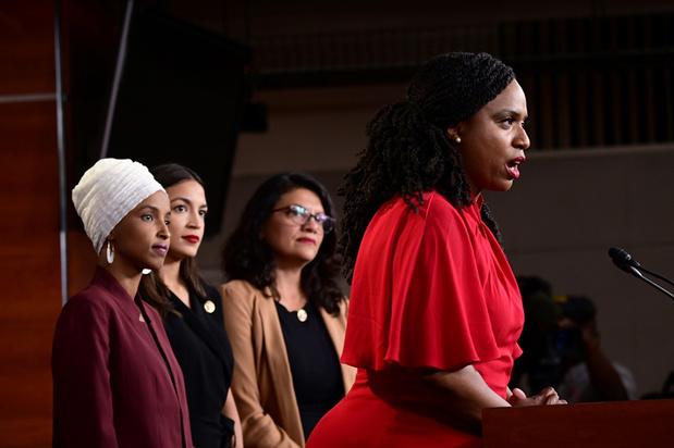 Door Trump verwenste vrouwen reageren: 'We zullen niet vallen voor afleidingstactiek'