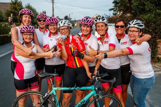 Straf: Liesbeth Viaene fietst 1.200 kilometer in minder dan 90 uren
