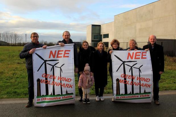 Bezwaar tegen windmolenpark in Kaaskerke