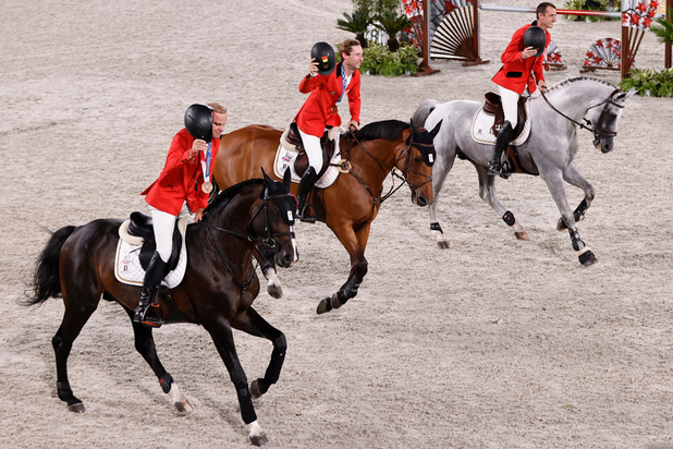 La Belgique médaillée de bronze du concours de saut d'obstacles en équitation