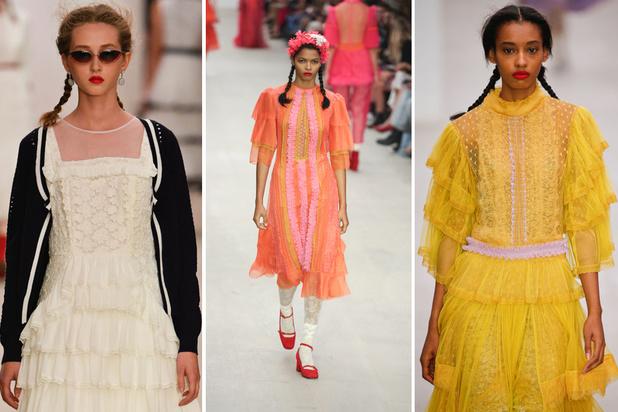 Bora Aksu start London Fashion Week met een kleurrijk eerbetoon aan prinses Taj Saltaneh
