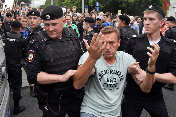Honderden arrestaties tijdens betoging tegen autoriteiten in Moskou