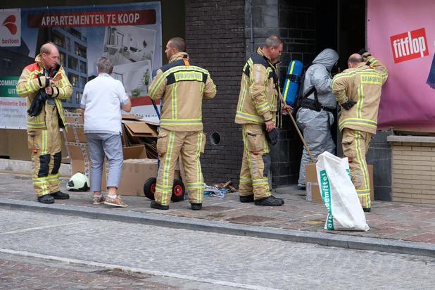 Ammoniaklek in de Veurnestraat in Nieuwpoort