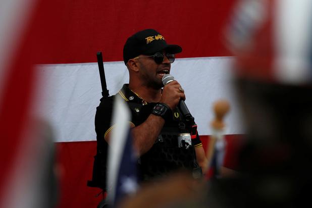 """Le leader de la milice d'extrême droite """"Proud Boys"""" arrêté à Washington"""