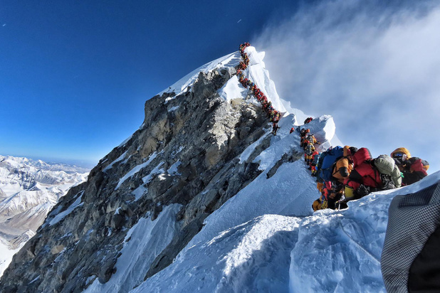 File op de Mount Everest
