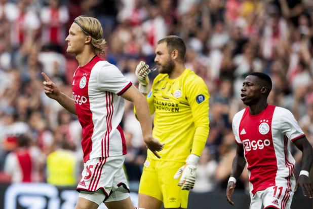 Ajax wint eerste confrontatie met PSV en pakt Johan Cruijff Schaal