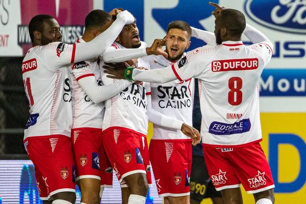 Jupiler Pro League: Mouscron écarte Saint-Trond et quitte provisoirement la lanterne rouge