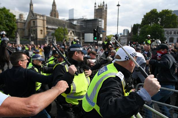 Verhitte gemoederen bij brexit-protesten in Londen