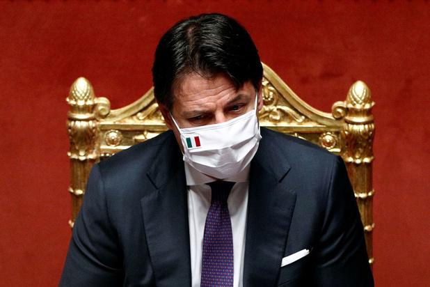 Italiaanse premier Giuseppe Conte heeft ontslag genomen