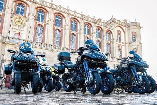 Yamaha Niken, moto officielle des courses cyclistes
