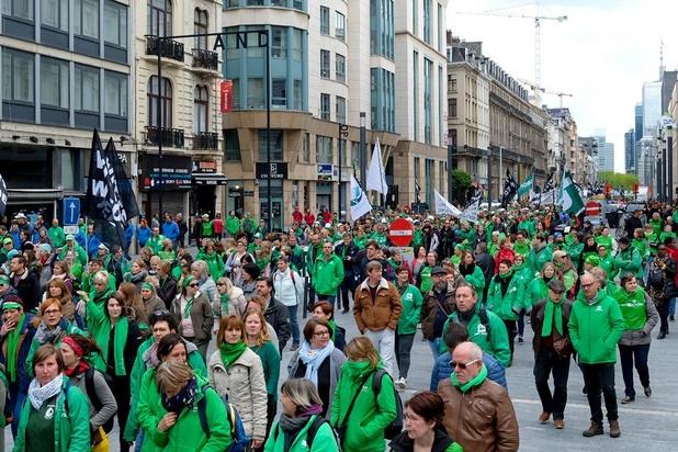 8.000 travailleurs du non marchand dans les rues de Bruxelles à l'approche des élections