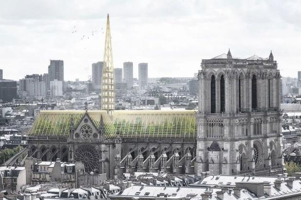 Architecten stellen ontwerp Notre-Dame voor: een botanische tuin voor iedereen
