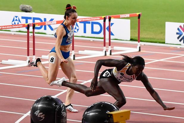 Mondiaux d'athlétisme: Anne Zagré chute et est éliminée en demi-finales du 100 haies