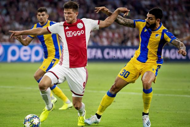 Ajax en Slavia Praag door naar poulefase Champions League