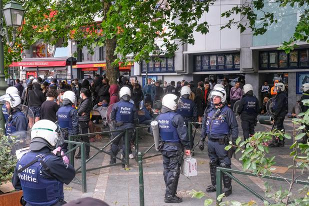 Une vingtaine de personnes interpellées à Bruxelles