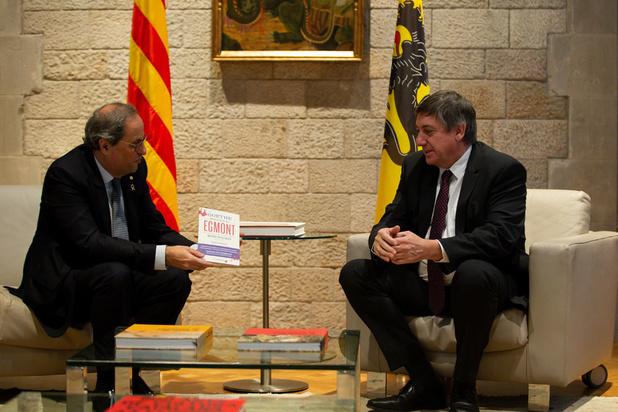 Jambon op bezoek in Barcelona: 'Dit zijn geen normale tijden voor Catalonië'