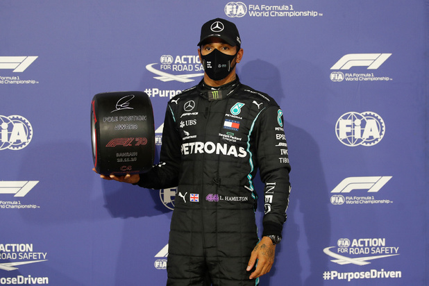 F1: Hamilton en pole position au GP de Bahreïn