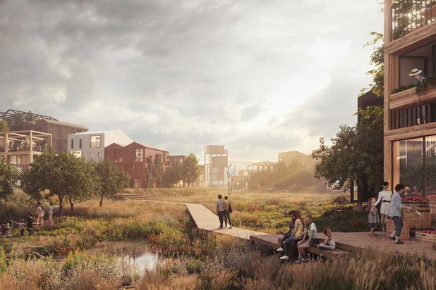 Straf staaltje Deense architectuur: stort wordt duurzame woonwijk