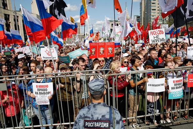 Rusland waarschuwt Google om filmpjes regeringsprotesten