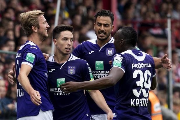 Toujours pas de victoire pour Anderlecht qui prend l'eau à Courtrai