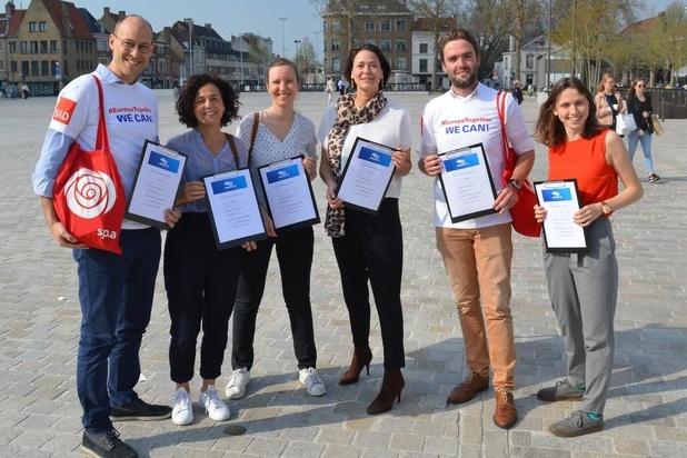 sp.a voert in Brugge actie tegen sociale dumping
