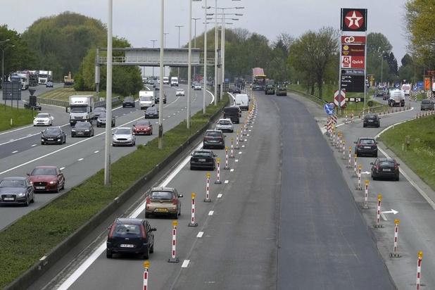 L'autoroute E40 à l'entrée de Bruxelles amputée d'une bande à partir de lundi