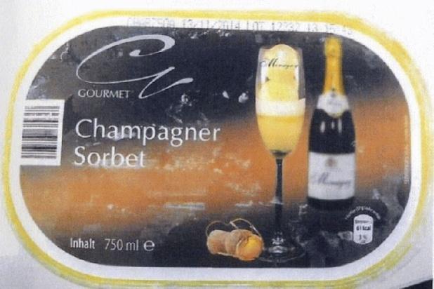 Les sorbets champagne d'Aldi interdits en Allemagne
