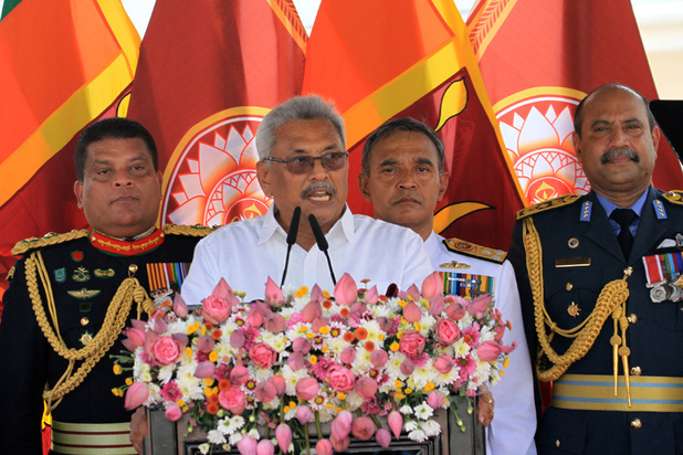Gotabaya Rajapaksa legt eed af als president van Sri Lanka