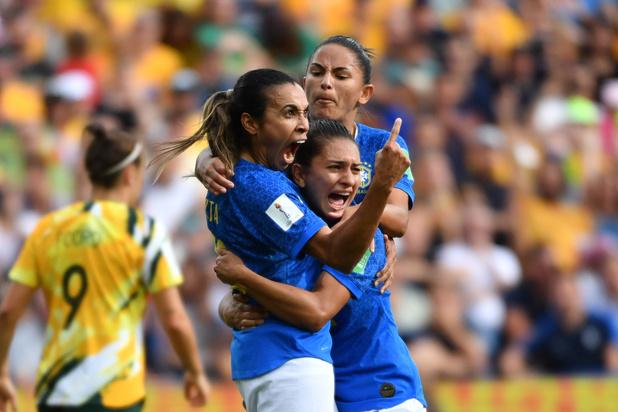 WK vrouwen: Braziliaanse Marta schrijft geschiedenis met doelpunt op vijfde wereldbeker