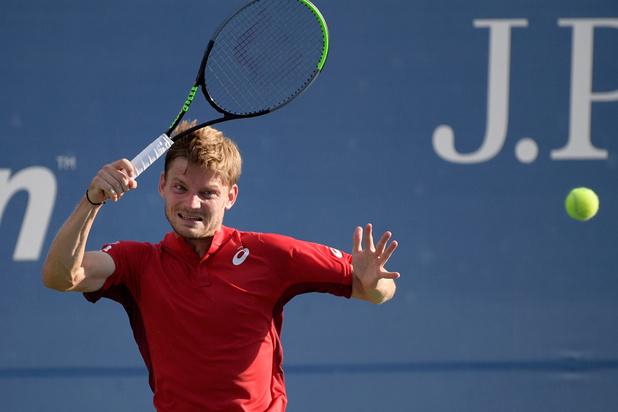 David Goffin ontmoet Federer in achtste finales US Open