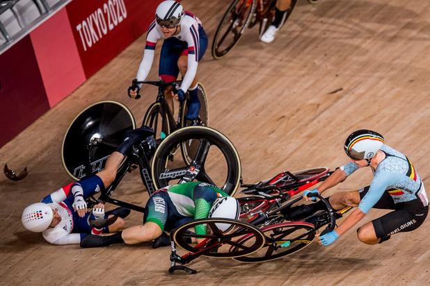 Cyclisme sur piste: grosse contusion à la hanche pour Lotte Kopecky après sa chute