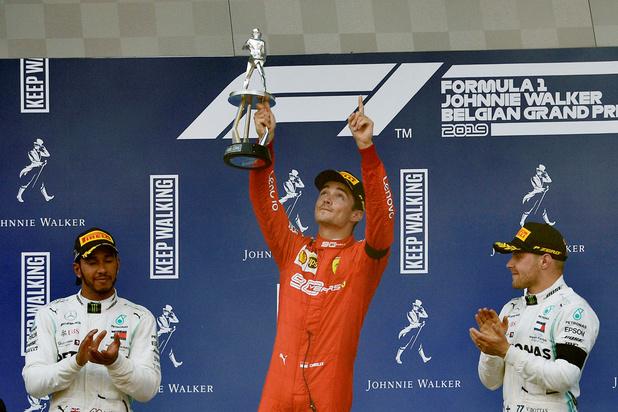 Grand Prix de Belgique de F1: Charles Leclerc dédie sa première victoire à Anthoine Hubert, mort la veille