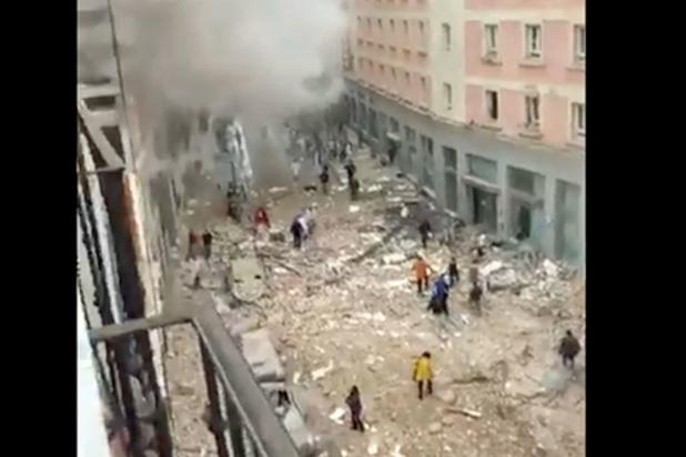 Forte explosion dans un immeuble du centre de Madrid