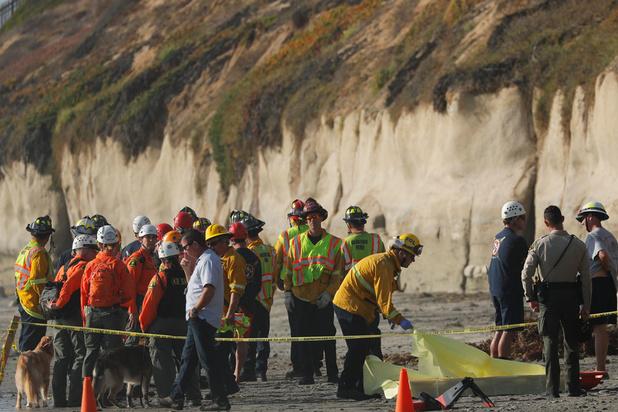 Californie: l'éboulement d'une falaise sur une plage fait 3 morts