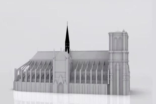 Belgische kunstenaar wil spits van Notre-Dame 'zwarter dan zwart' schilderen