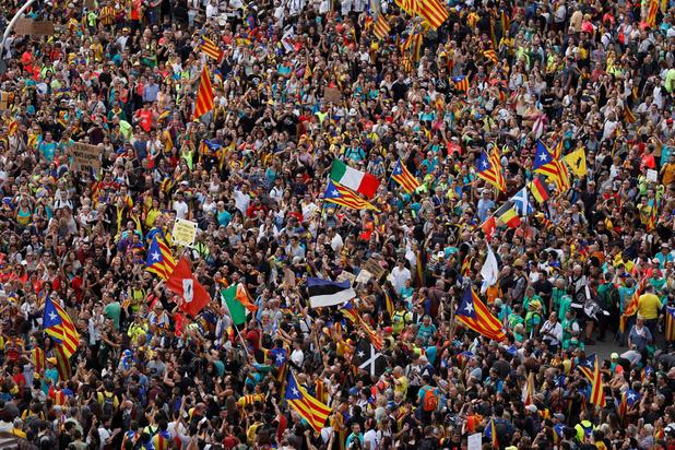Manifestation monstre des indépendantistes catalans