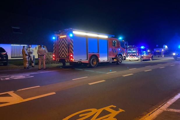 Thermostaat elektrische verwarming veroorzaakt steekvlam in huis in Torhout