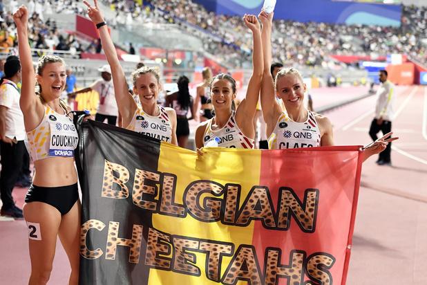 Mondiaux d'athlétisme: Les Belgian Cheetahs 4e du 4x400 m