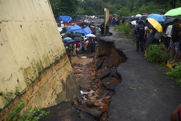 Inde : 22 morts dans l'effondrement d'un mur à Bombay suite aux pluies diluviennes