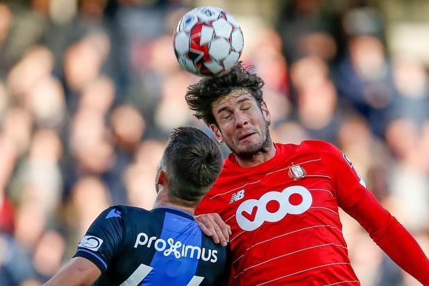 Statu quo au sommet du classement après le match-nul entre Bruges et le Standard