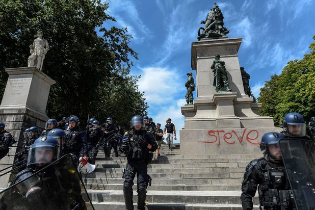 Steve: tensions dans le centre de Nantes