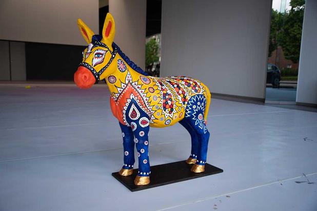 Kunstenaars zamelen geld in voor goede doelen met vrolijke beelden van ezels
