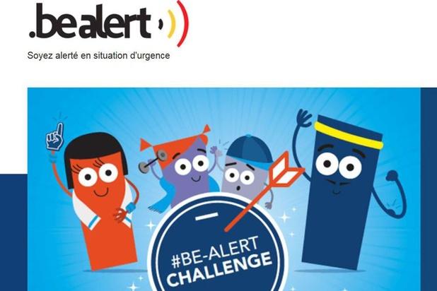 Le système Be-Alert testé à l'échelle nationale, près de 600.000 messages envoyés