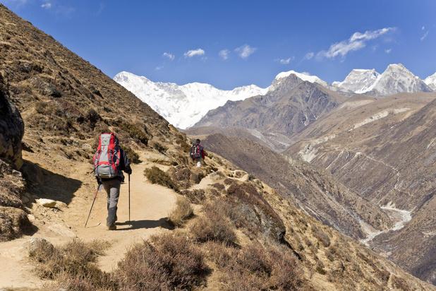 Grassen rukken op rond Mount Everest