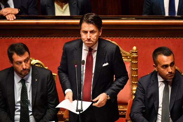 Italiaanse premier Conte kondigt ontslag aan: regering in lopende zaken