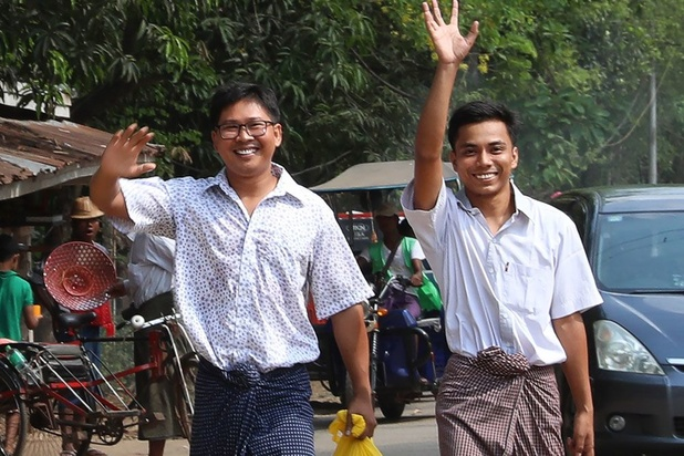 Myanmar laat Reuters-journalisten vrij